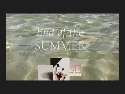 End of the SUMMER Issue 77 minimal ecommence typography layout header animation e-commerce ui ux web webdesign