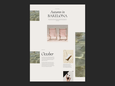 Autumn in Barcelona Issue 78 layout minimaldesign ecommence typography ui minimal webdesign web ux