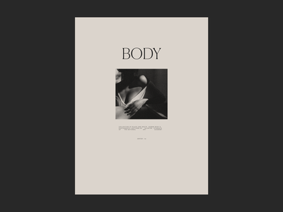Body Issue 84 branding brutalist ui webdesign typography minimaldesign layout minimal web ux