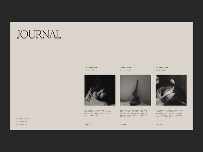 Journal Issue 86 canela typogaphy minimaldesign layout ui minimal webdesign journal blog web ux