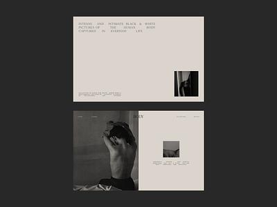 Photography Portfolio Issue 88 minimal design beige portfolio ui webdesign typography minimaldesign layout web ux