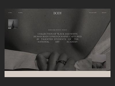 Body Opening Issue 89 blackandwhite ux exhibition homepage animation typography minimaldesign layout minimal ui webdesign web