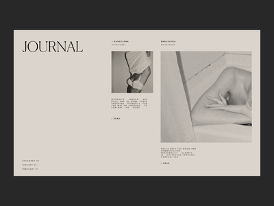 Issue 90 ui minimal layout beige typography minimalist blog journal webdesign web ux