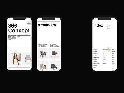 Issue 103 366 Concept mobile black and white mobile responive ecommerce minimaldesign layout minimal webdesign web ux ui