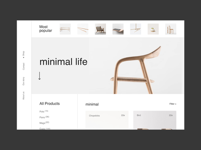 MinimalLife Issue 23 layout minimal minimaldesign ux webdesign web ui
