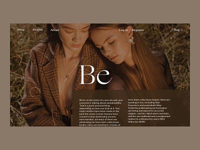 /Be Issue 32 e-comerce fashion minimal e-commerce ecommence layout typography ux webdesign web ui