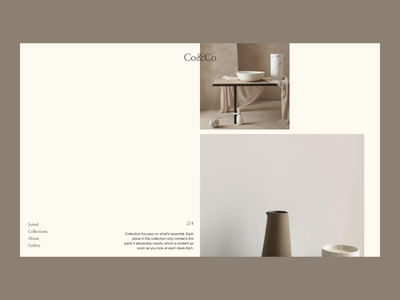 CoCo Ceramics Issue 50 web webdesign ui ux typography layout minimaldesign minimal