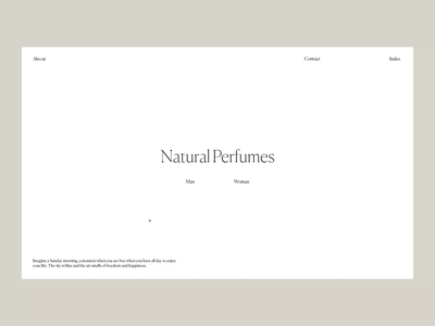 Natural Perfumes  Issue 53 animation webdesign ui ux web typography layout minimaldesign minimal