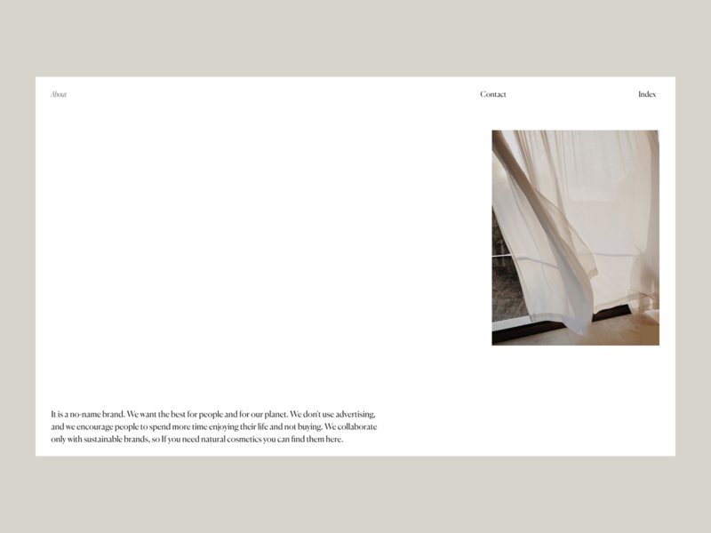 About No-name brand Issue 55 web ux ecommence typography layout minimaldesign minimal webdesign