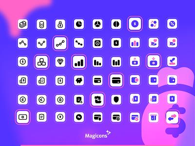 Magicons - Finance icon set illustration graphic design ui vector design icon design iconography icon iconset