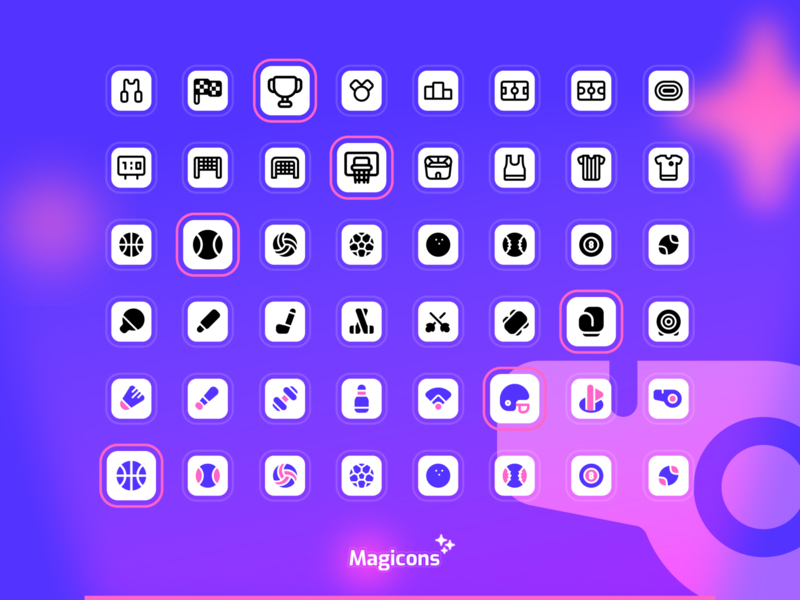 Magicons - Sport icon set sport vector design graphic design ux ui illustration icon icon design