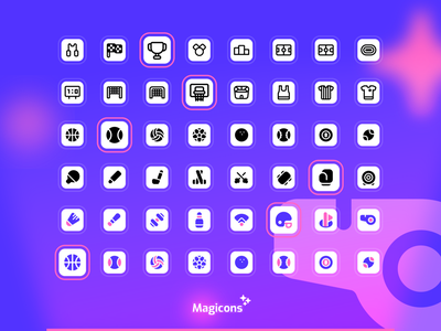 Magicons - Sport icon set sport vector design graphic design ux ui illustration icon icon design