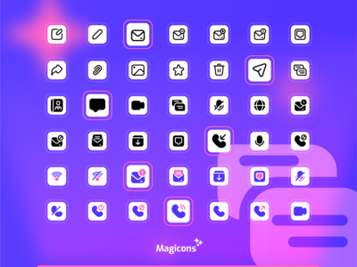 Magicons - Communication icon set communication chat iconography ux graphic design design vector ui illustration icon icon design