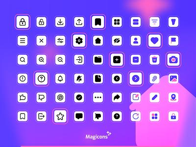 Magicons - User Interface icon set graphic design design ui iconography vector illustration icon icon design