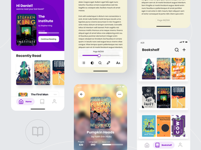eBook reader app - exploration app ebook ux graphic design design ui