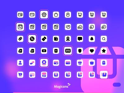 Magicons - Shopping & Ecommerce graphic design ecommerce shopping vector design iconography ux ui icon icon design