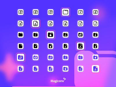 Magicons - Folder and Document Icon Set document folder graphic design ux vector iconography design ui icon icon design