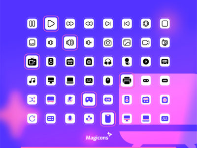 Magicons - Multimedia Icon Set multimedia vector ux illustration ui design iconography icon icon design