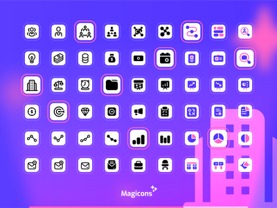 Magicons - Business Icon Set business graphic design vector design iconography ux ui illustration icon icon design