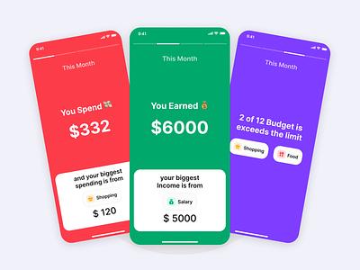 Montra - Financial Report icon illustration expense tracker finance figma user interface ui kit resource freebie ux ui design