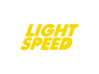Light Speed wordmark yellow typography monogram logo design design branding graphic design brand logo