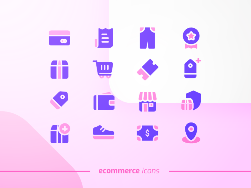 E-commerce Icons graphic design e-commerce icon icon pack ui design icon design icons