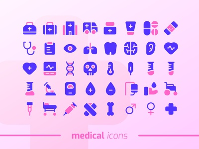 Medical Icons Set graphic design vector icon design ui design illustration iconset icon