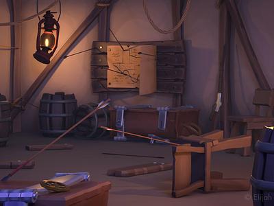 The Raided Camp of the Rangers substancepainter texture gameasset gameart lowpoly western cowboy 3dart maya