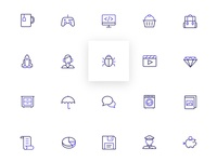 Free line Icons bi-color - Orion Icons