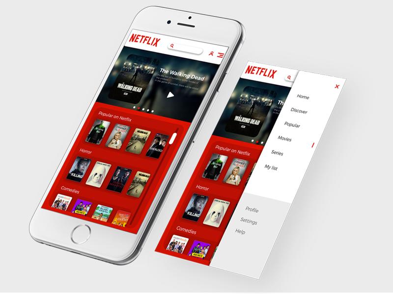 Netflix interface concept