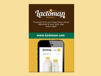 Lactoman Poster Design