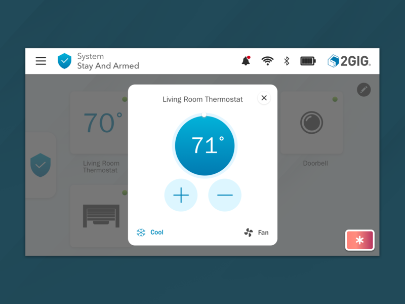 Smart Thermostat (Security Panel) security app smarthome thermostat