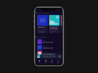 Dark UI Podcasts App Concept #02