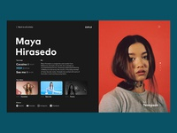 Discover New Artists - Web App Concept