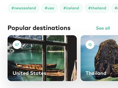 Travel_app_concept ios color app branding app ui typography branding design