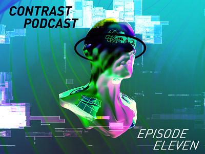 KLINES   Podcast Artwork cinema 4d artwork podcast glitch model 3d