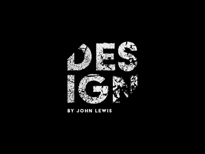 DESIGN by John Lewis #1 illustrator type typegraphy logo type icon branding brand logo