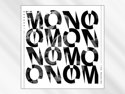 Mono - Vinyl Cover illustrator cover vinyl type typography