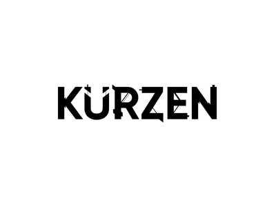 Kurzen - 3 typography type logo type logo