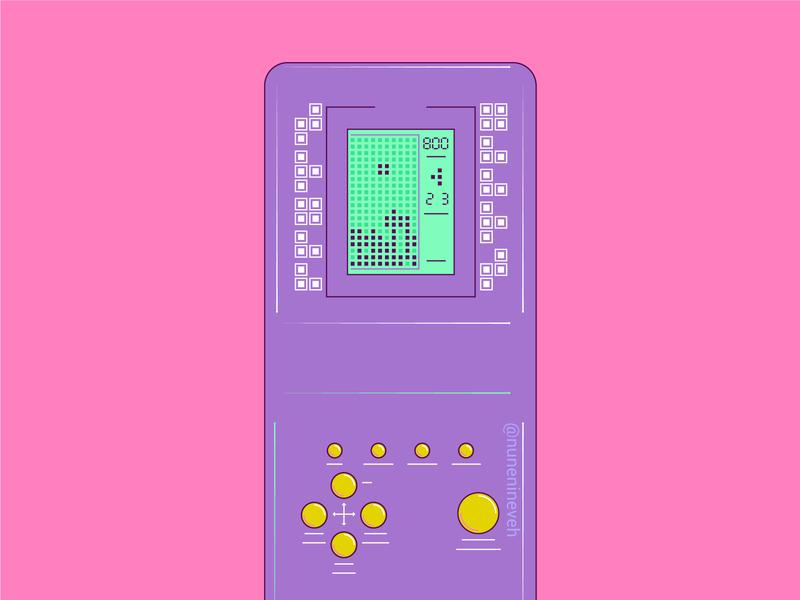 Tetris tetris game brick game visual art vector a day illustrator art illustrator cc 90s aesthetics daily vector art of the day freelance illustrator illustration daily illustrate now women in illustration nostalgic illustrator illustration freelance artdaily art 90s