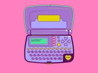 Electronic Notebook Illustration
