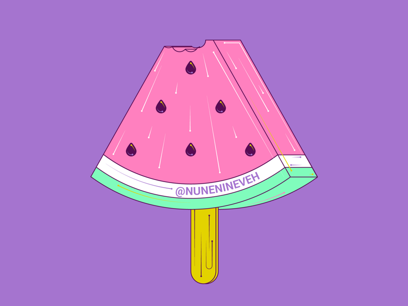 A watermelon popsicle, because why not? design art illustrator illustration