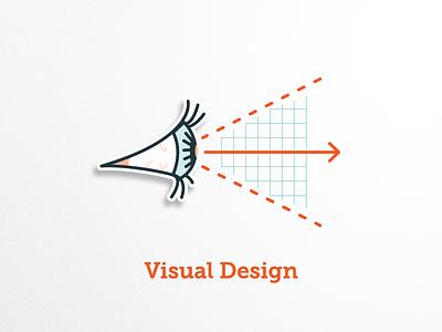 Visual Design Badge badge illustrations icons grid eyes design visual