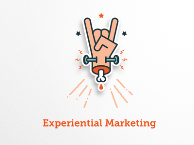 Experiential Marketing Badge badge illustrations metal hand agency electric experience marketing experiential