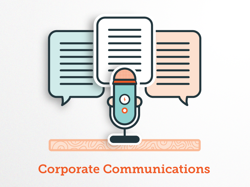 Corporate communications icon v2.0