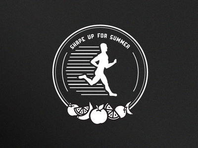 Shape Up Badge badge running jogging vegetables fruit icon shape fitness