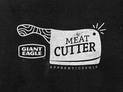 Meat Cutter Apprentice Logo 1 cleaver knife apprentice butcher logo cutter meat