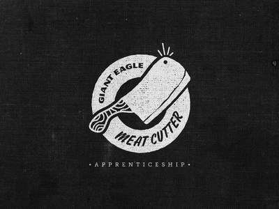 Meat Cutter Apprentice Logo 4 meat cutter logo butcher apprentice knife cleaver