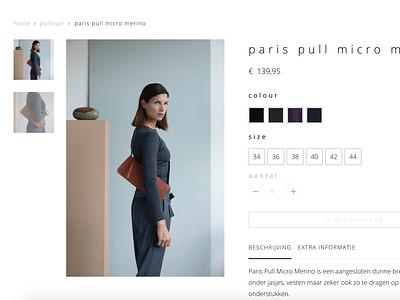 Webshop typography minimal fashion clean webshop
