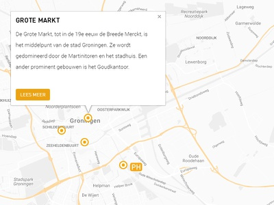 Map marker popup overlay bootstrap map interactive